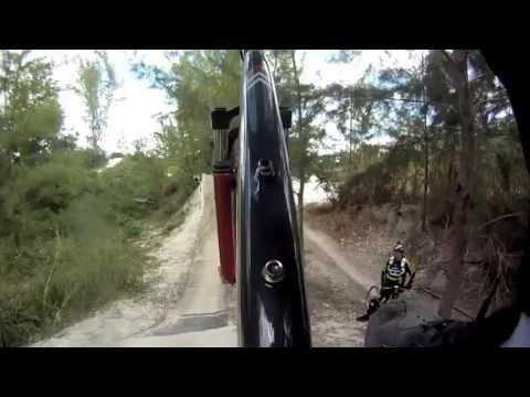 Nasty Fall at Amelia Park, Mountain bike trails. Miami Florida..