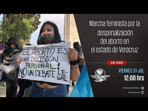 Marcha feminista por la despenalización del aborto en Veracruz