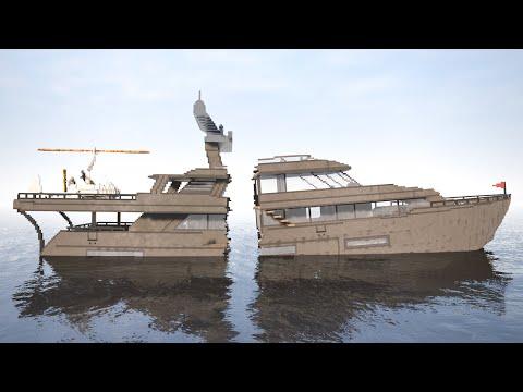 Cut Ships In Half (sinking)   Teardown
