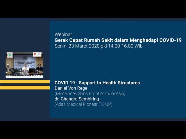 COVID 19 : Support to Health Structures - Webinar Gerak Cepat Rumah Sakit dalam Menghadapi Covid 19