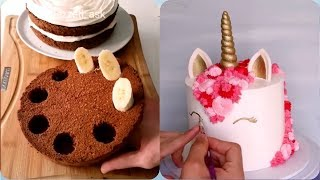 Satisfying Cake! Amazing Cake Decorating compilation! Amazing Chocolate Cake Decorations Ideas!