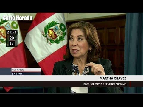 Martha Chávez habla de la cuestión de confianza del premier Fernando Zavala
