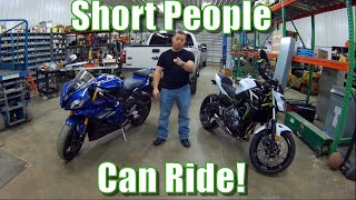 Short and want a motorcycle?   Insight from an actual short rider!