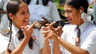 Indian sign Language deaf words small learn