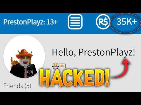HACKING PRESTONPLAYZ ROBLOX ACCOUNT! **CAUGHT!**