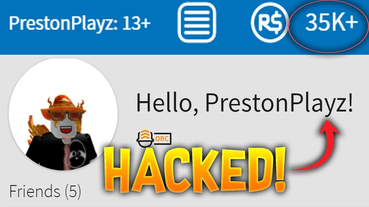 HACKING PRESTONPLAYZ ROBLOX ACCOUNT! **CAUGHT!**