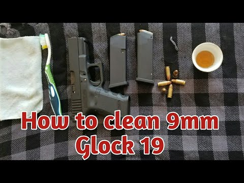 Glock's Official Recommended Cleaning & Inspection || How to clean 9mm Glock 19 pistol