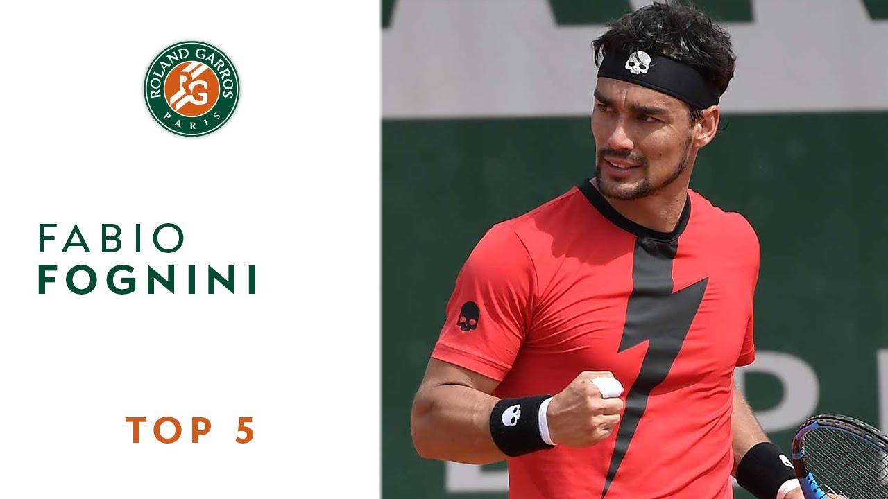Fabio Fognini - TOP 5 | Roland Garros 2018
