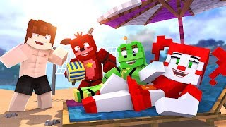 Minecraft FNAF 6 Pizzeria Simulator - BEACH PARTY! (Minecraft Roleplay)