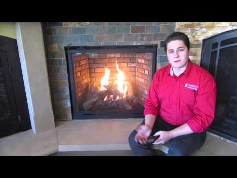 Napoleon HDX40 Burn Video Natural Gas Direct Vent Gas Fireplace Realistic Burn Heater
