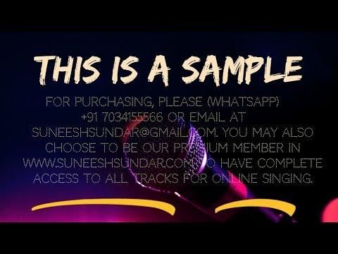 Aalapporan karaoke with chorus synced lyrics