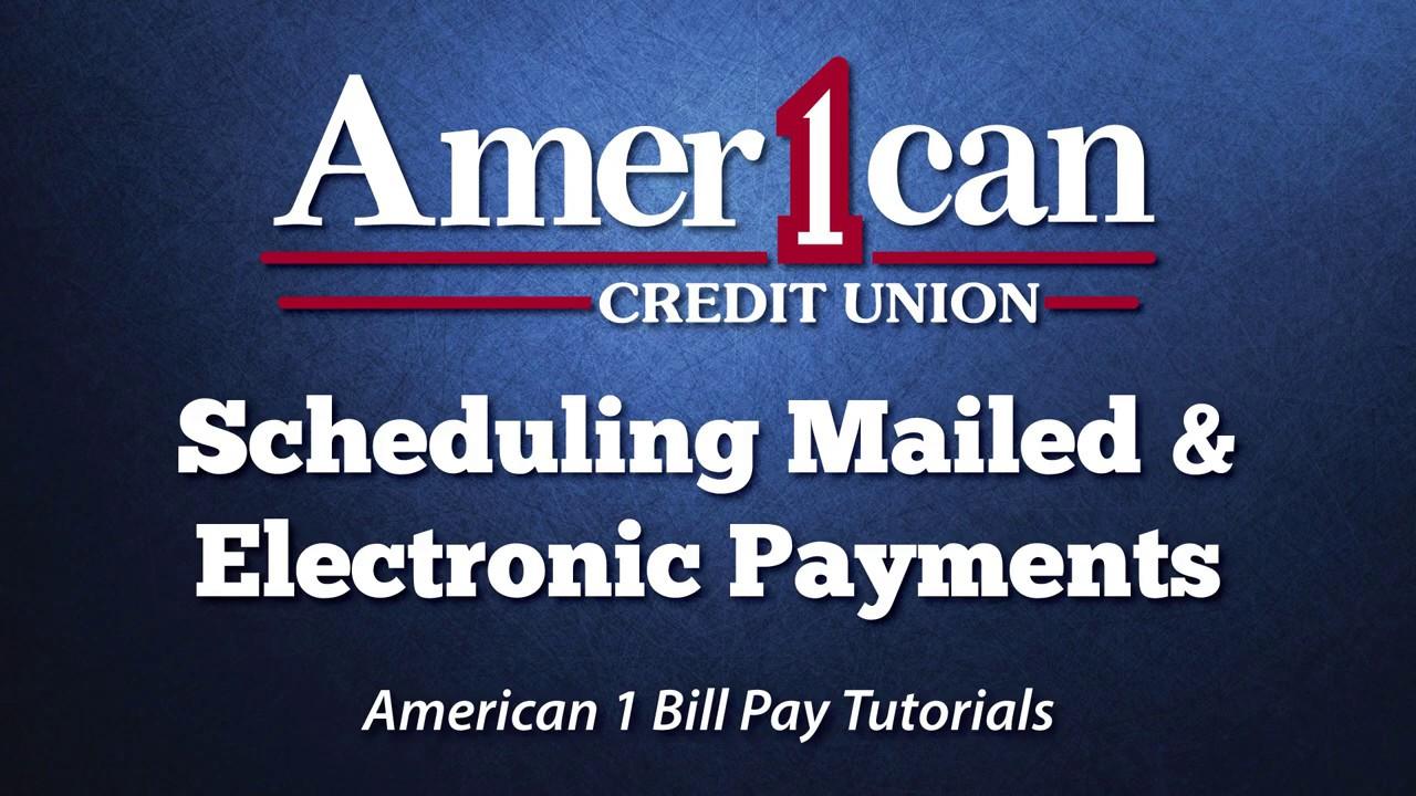 Bill Pay - American 1 Credit Union