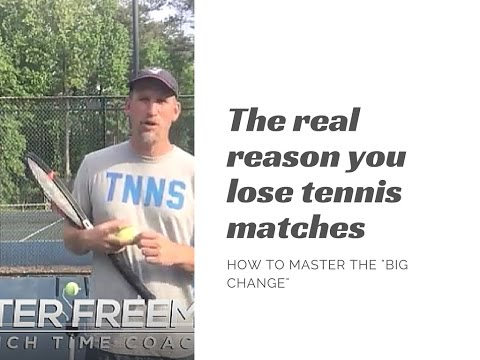 Winning Tennis Tips: The Real Reason You Lose Tennis Matches