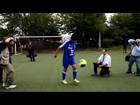 Bolivian president Morales plays football for UN