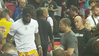 LeBron and Tyronn Lue showing zero hard feelings chatting at Summer League #Lakers #Cavs