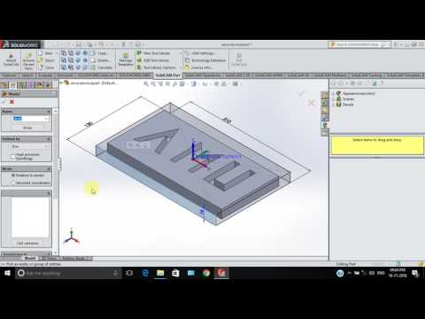 CNC code generation using Solidworks and SolidCAM