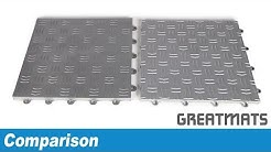 Comparing Modular Garage Flooring Tiles - Diamond Surface