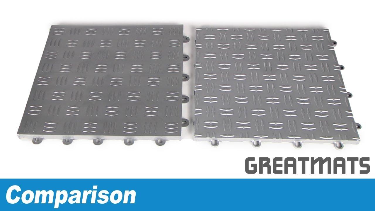 Comparing modular garage flooring tiles diamond surface youtube comparing modular garage flooring tiles diamond surface dailygadgetfo Choice Image