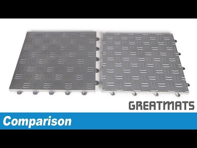 Snap Together Garage Floor Tile Comparison Video
