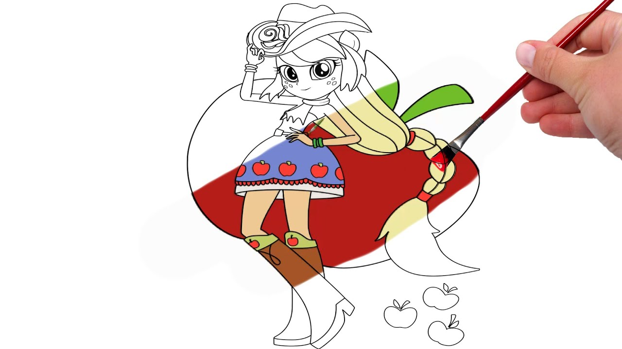 My Little Pony Applejack Equestria Girls Coloring Pages