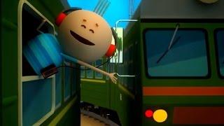 Аркадий Паровозов спешит на помощь - Почему в поезде нельзя высовывать руку в окно - мультфильм