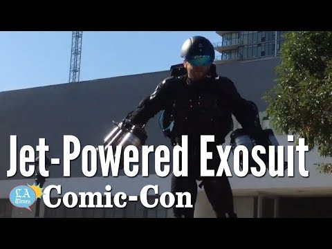 Real life Iron Man Flying Around In A Jet-Powered Suit: Comic-Con | Los Angeles Times
