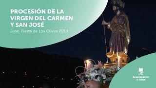 ver video: Procesión de la Virgen del Carmen y San José. Fiesta de Los Olivos 2019