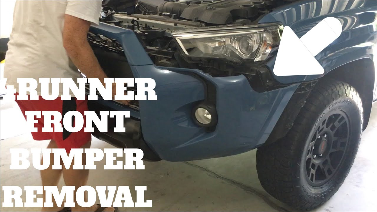 HOW TO REMOVE YOUR FRONT BUMPER | TOYOTA 4RUNNER