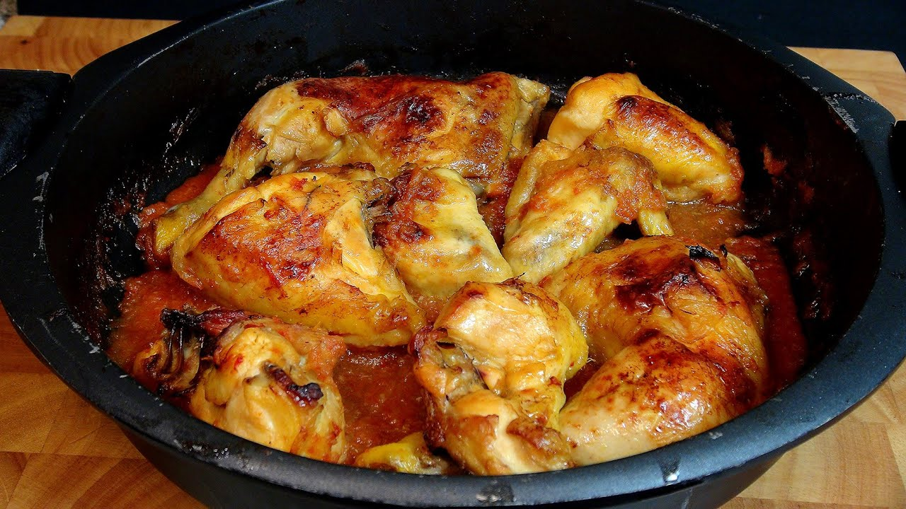 Pollo asado con salsa de tomate y cebolla recetas de - Salsa para verduras al horno ...
