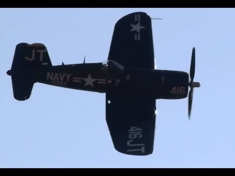 Vought F4U Corsair demo NO TALKING OR MUSIC!