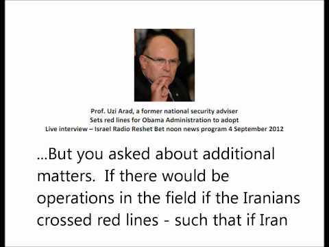 Uzi Arad - Red Lines The U.S. should apply to Iran  4.9.2012
