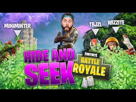HIDE AND SEEK CHALLENGE with MINIMINTER TBJZL and WIZZITE!!!! Fortnite: SIDEMEN