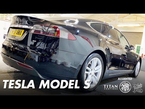 resurrected solid black tesla model s offset detailing essex youtube resurrected solid black tesla model s