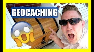 TREASURE CHEST GEOCACHE HIDDEN IN PLAIN SIGHT! (Geocaching)