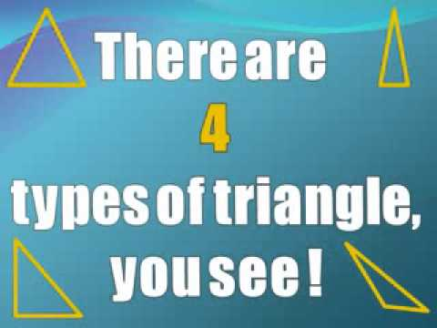 The Triangle Song   learning different kinds of triangles