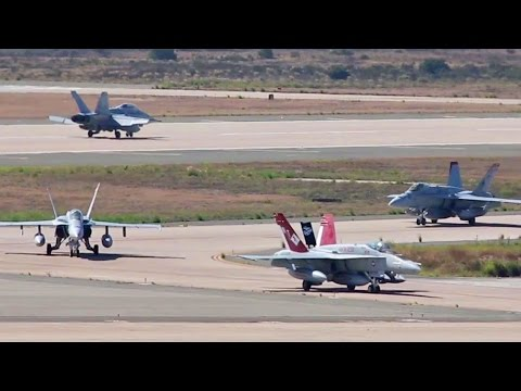 F-18 Hornet Squadron Pilots Return Home To California After Deployment