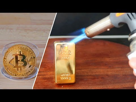 EXPERIMENT Fire Gas Torch vs REAL GOLD BAR vs BITCOIN