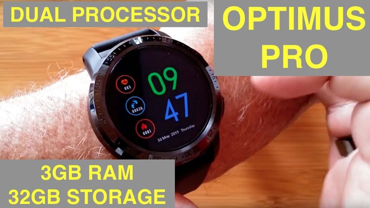 Kospet Optimus Pro Dual Chip System 3G+32G 4G-LTE Watch Phone AMOLED 8 0MP  800mAh GPS Google Play Smart Watch