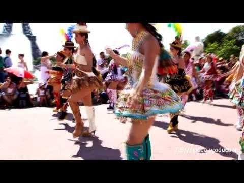 FOLKLORE BOLIVIANO - 100% MORENADA BOLIVIANA EN PARIS 2013