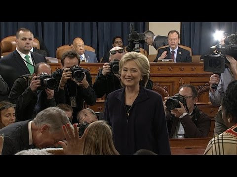 Hillary Clinton arrives to testify before Benghazi committee