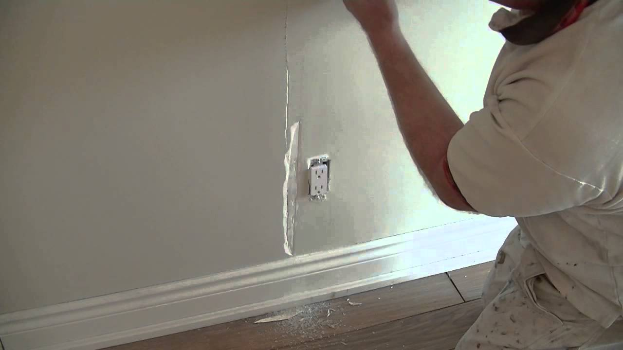 A Good Way To Repair A Drywall Tape Fail Youtube