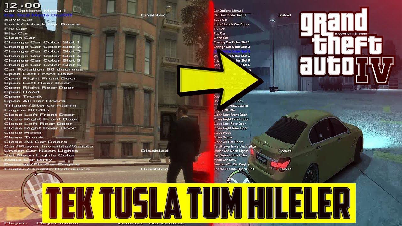 GTA 4 TEK TUŞLA TÜM HİLELERİ YAPMAK! (Native Trainer)