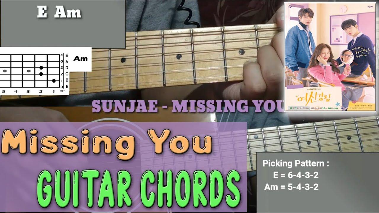 Sunjae Missing You True Beauty Ost Guitar Chords Tutorial Youtube