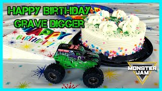 Grave Digger's Birthday | Monster Trucks for Kids | Chuck E. Cheese