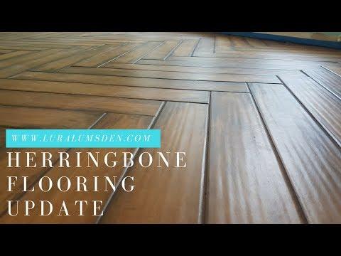 Installing Herringbone Ceramic Hardwoods Flooring: An Update on Our DIY Home Renovation Project