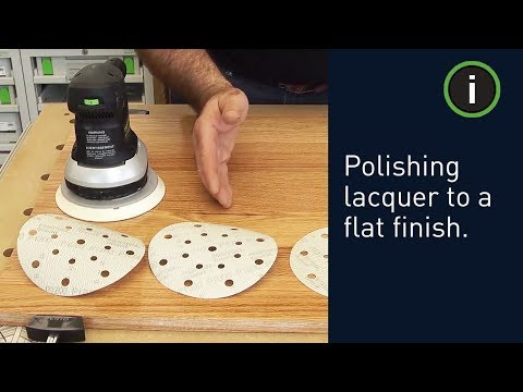 Polishing lacquer to a flat finish with the Festool system