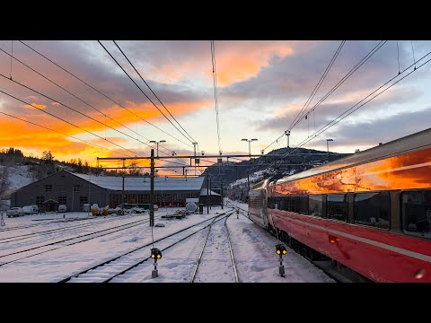 Train Driver's View: Evening information run between Ål and Voss