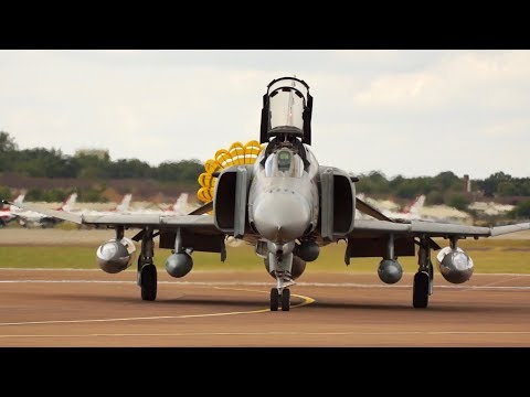 McDonnell Douglas F-4 Phantom II Hellenic Air Force arrival at RIAT 2017 AirShow