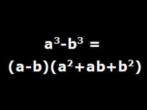 A Cube Minus B Cube - Algebra Identity Derivation