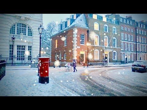 Snow Frozen Winter Wonderland City Of London England - 2018 Storm